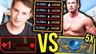 JACOB Vs WIDZOWIE w CSGO! 1HP VS 5 GLOBAL ELITE W CS:GO | NOWY TRYB W CS GO | GRA O SKINY