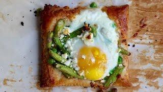 Asparagus, Pea & Egg Tart