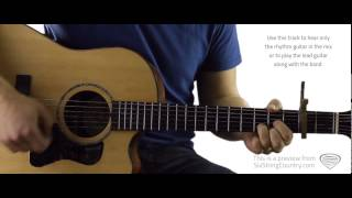Anything But Mine - Guitar Lesson and Tutorial - Kenny Chesney