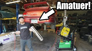 homepage tile video photo for Building MY FIRST Custom Exhaust For Miss Jackson! (WRX Swapped Subaru GC8) *Amatuer Fab Alert*