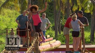 Arisa Cox Competes In A 'Survivor' Challenge