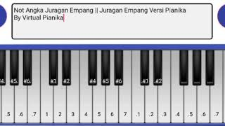 Juragan Empang - Via Vallen - Nella Kharisma Versi Pianika || Not Angka Pianika Juragan Empang