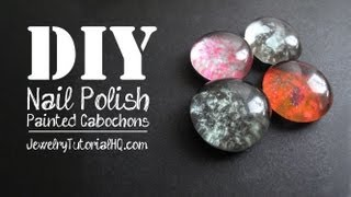 DIY Nail Polish Painted Cabochons, for Jewelry Making or Crafting
