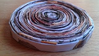 Make A Cool Rolled Magazine Coaster - Diy Home - Guidecentral
