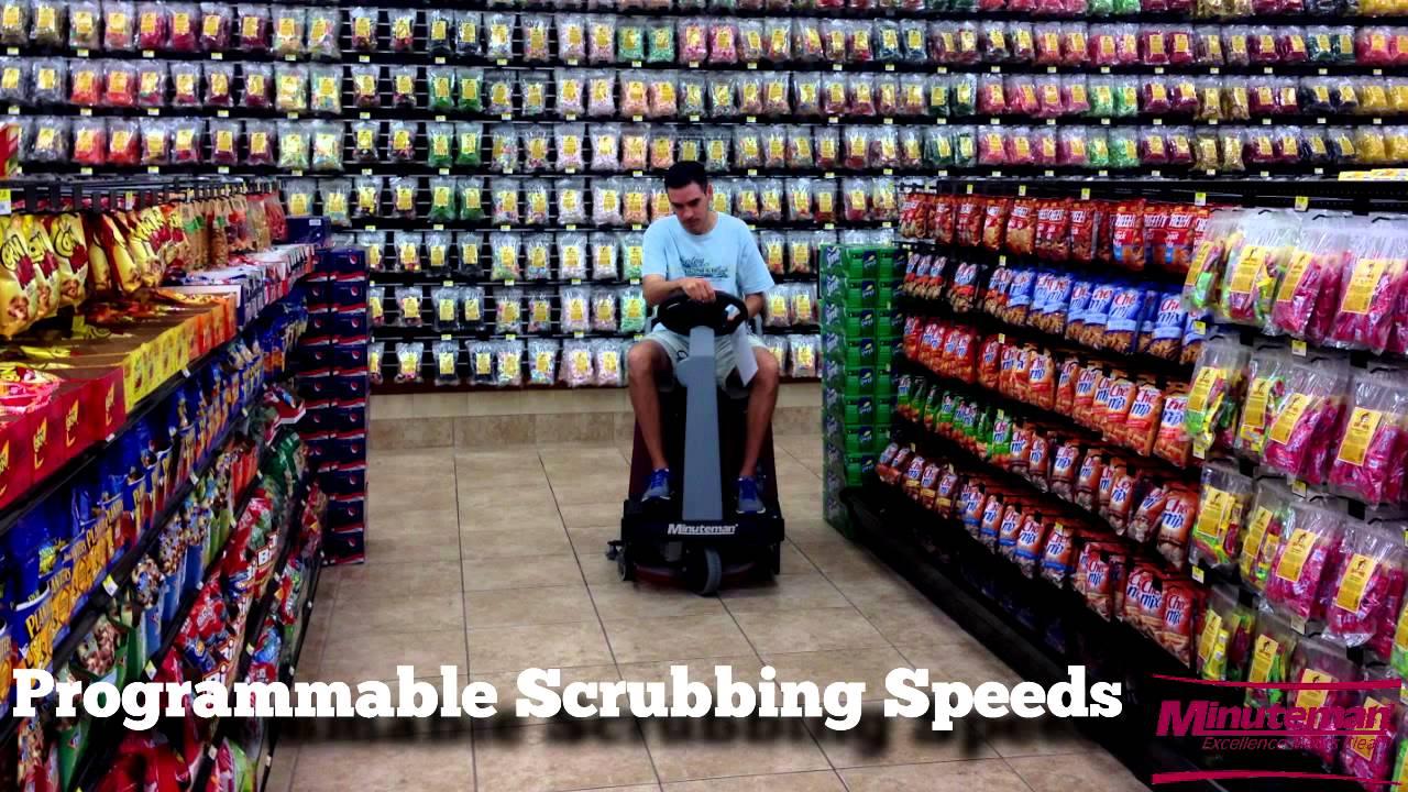 Kitchen Floor Scrubber Minuteman Riding Floor Scrubber Eride 21 Floor Cleaning
