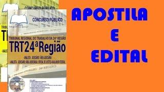 Apostila e Curso Online Analista Judiciário Concurso TRT Campo Grande MS 2017
