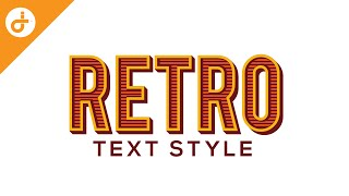 Text Style in Illustrator, Graphic style tutorial - RETRO STYLE