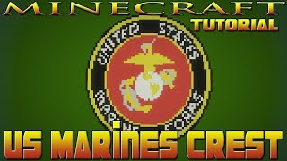 Minecraft U.S. Marine Crest Emblem Tutorial