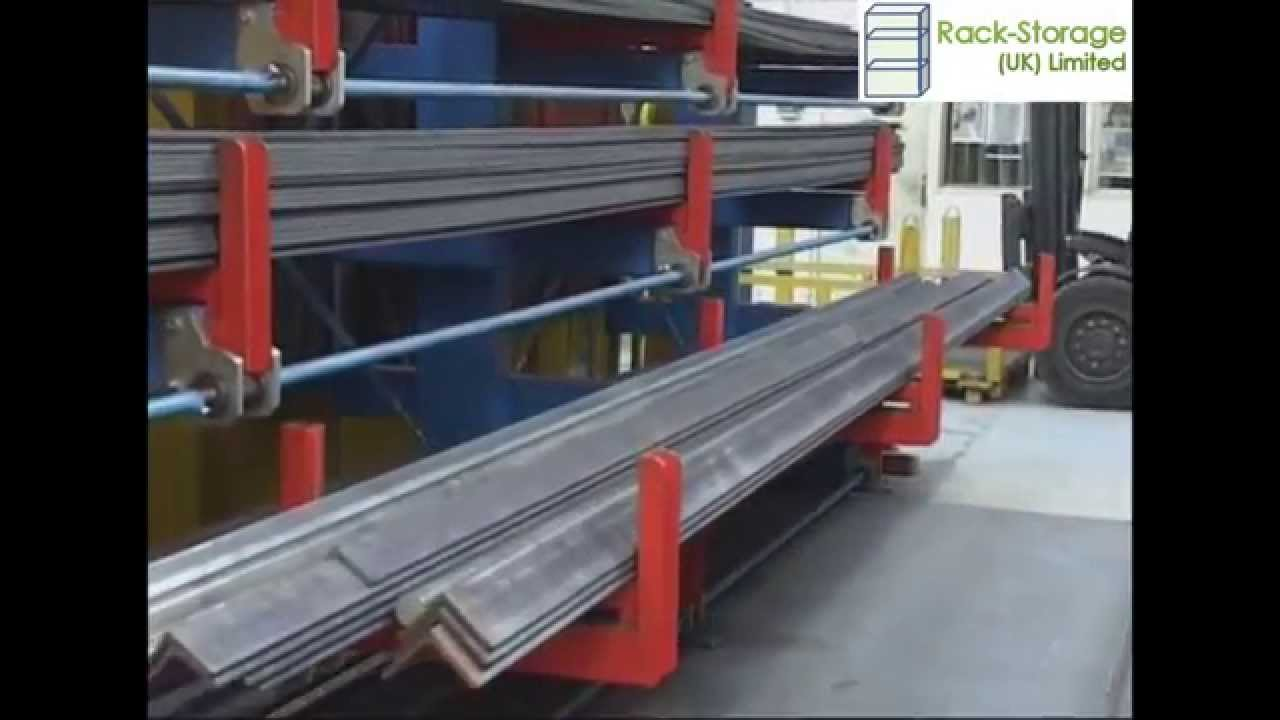 Cantilever Roll out Racking & Cantilever Roll out Racking - YouTube
