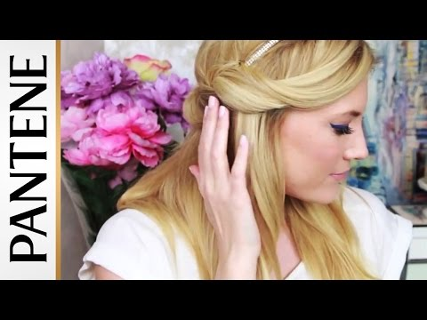 half-up-headband-hair-tuck:-easy-hairstyles-for-long-hair-with-elle-fowler