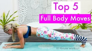 Top 5 Full Body Workout Moves - BEST EXERCISES | Rebecca Louise