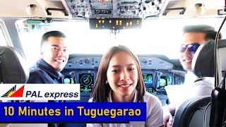 10 MINUTES IN TUGUEGARAO   PAL Express Q400 Next Gen from CRK to TUG and Back