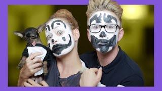 Insane Clown Makeup Tutorial (ft. Mamrie) | Tyler Oakley