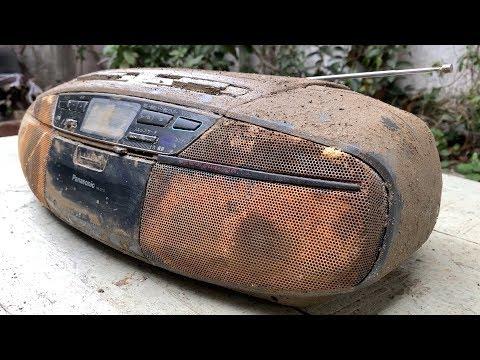 Restoration Old Panasonic Stereo radio Cassette CD Player   Restore Boombox AM/FM Radio