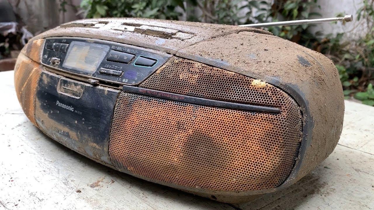 Реставрация на един стар касетофон Panasonic, който изглеждаше всякаш е забравен по времето на втора