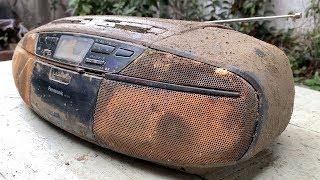 Restoration Old Panasonic Stereo radio Cassette CD Player | Restore Boombox AM/FM Radio