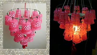 Wow!!! Plastic cup Jhoomer/ Chandelier making at home
