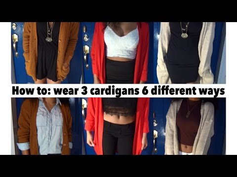 SHOO SHOPS: How to wear 3 cardigan 6 different ways | jasmeannnn