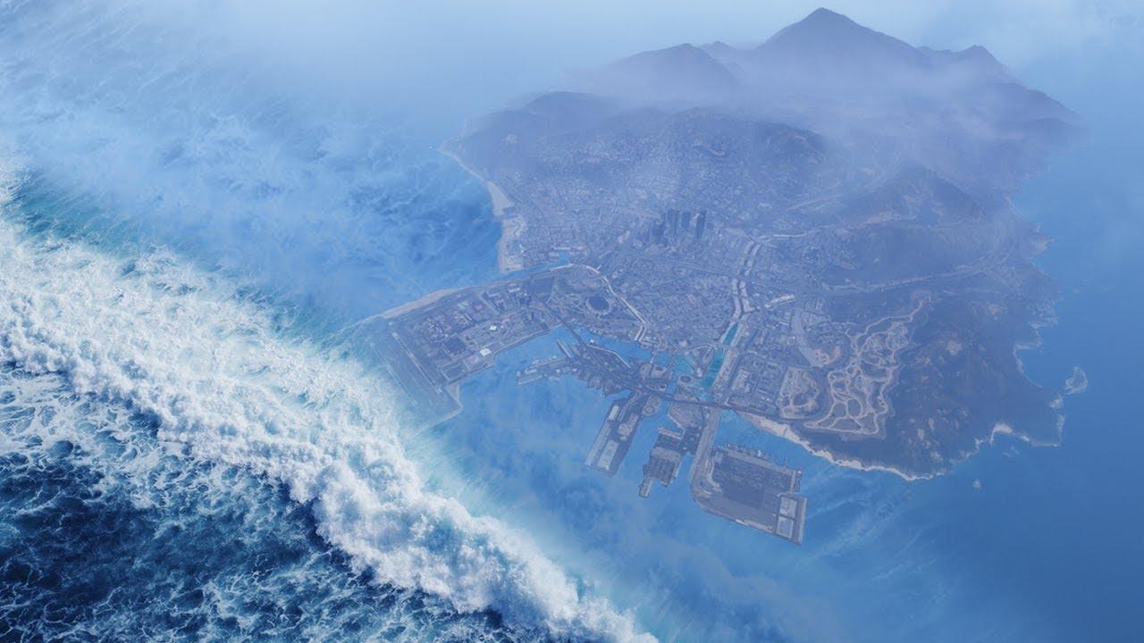 Download GTA 5 - World's BIGGEST Tsunami EVER!! (100,000ft Deep)