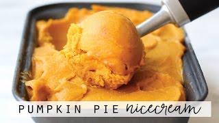 Pumpkin Pie Nicecream HCLF vegan