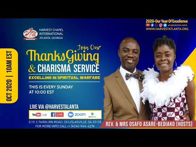Sunday Thanksgiving Service || 10-18-2020