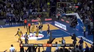 Müthiş tribün tepkisiyle iptal edilen basket faul   Fenerbahçe Ülker  Maccabi Tel Aviv Playoff 1.maç