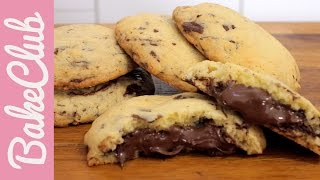 Nutella Chocolate Chip Cookies | BakeMyDay