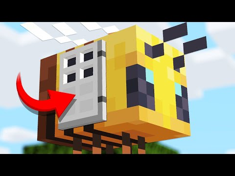 How to LIVE inside a BEE in Minecraft 1.15 Update