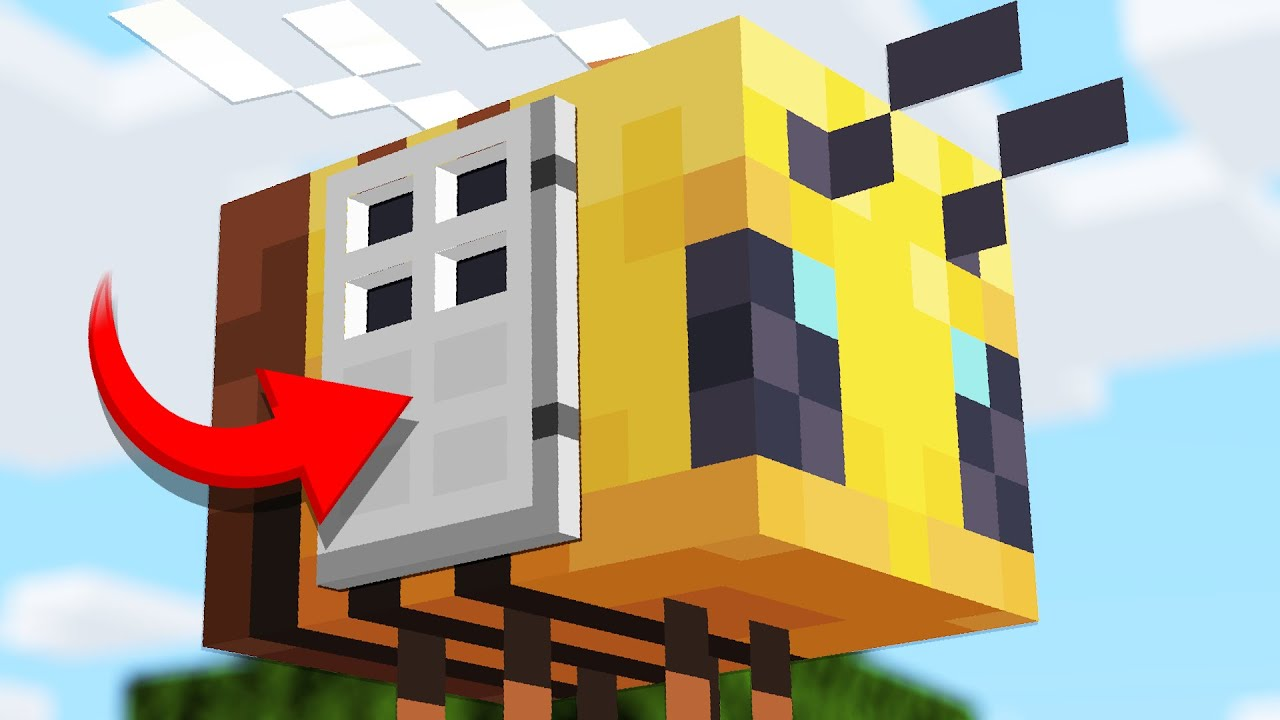 How to LIVE inside a BEE in Minecraft 1.15 Update thumbnail