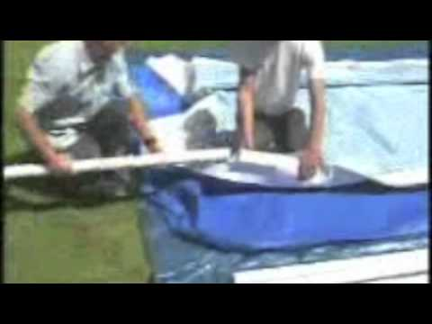 montage piscine intex metal frame rectangulaire cash piscines youtube. Black Bedroom Furniture Sets. Home Design Ideas