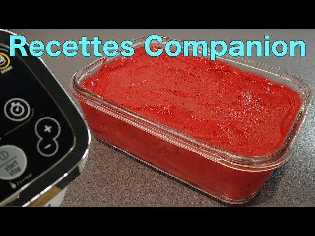 Recettes Companion de Brice - Sorbet Framboises