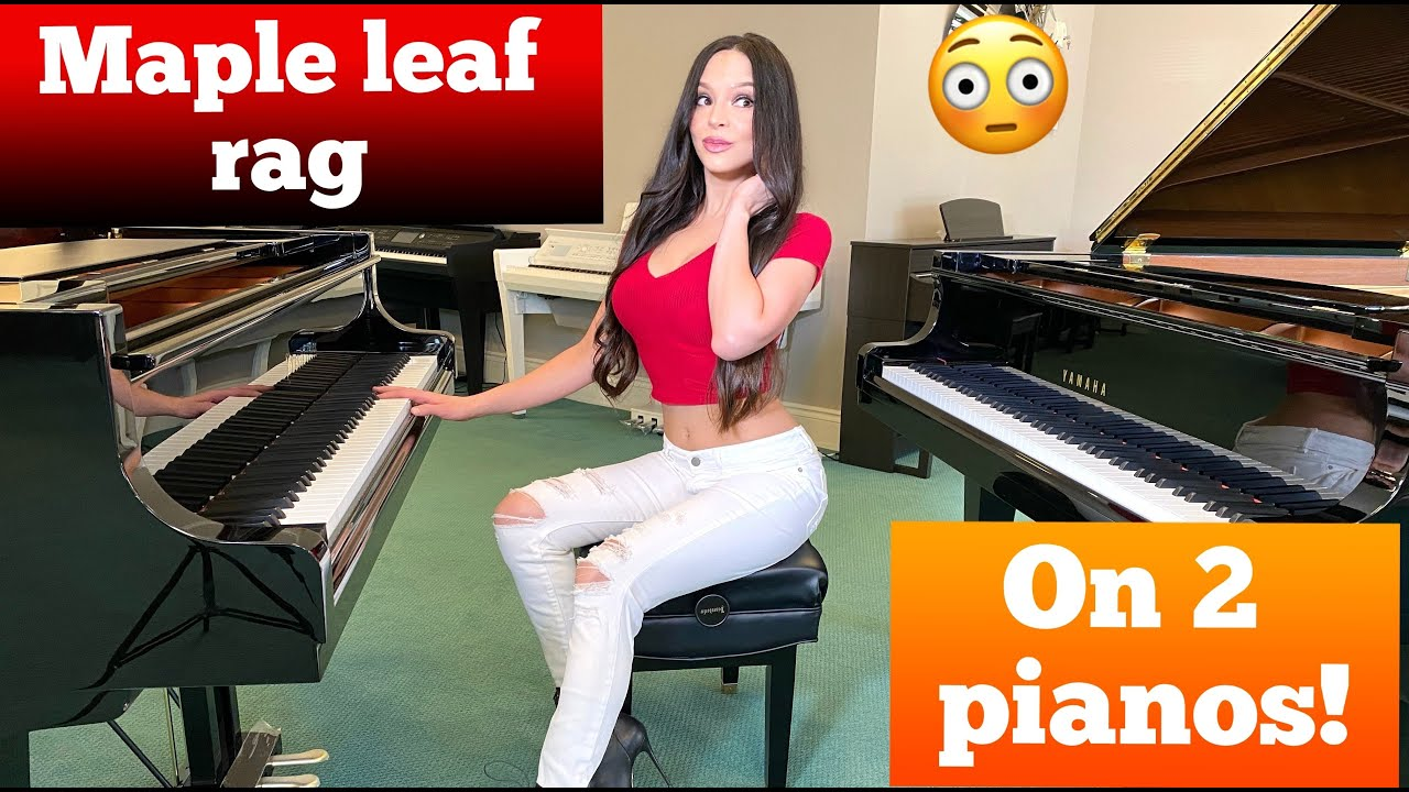 Maple Leaf Rag on Two Pianos! (@LOLA ASTANOVA)