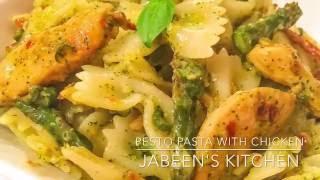 Pasta with Chicken & Homemade Pesto Sauce