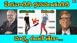 5 Main Differences Between Rich Mindset and Poor Mindset || in Telugu || Mysteries and Unknown Facts