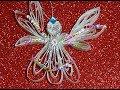 Поделки - Рождественский ангел из бумаги своими руками-чудо как красив!