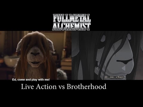 Fullmetal Alchemist Live Action Comparison