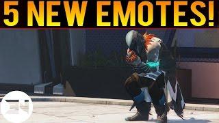5 Brand New Emotes For Destiny The Taken King - Tess Everis Emotes Preview