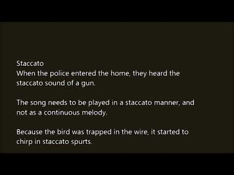 police staccato