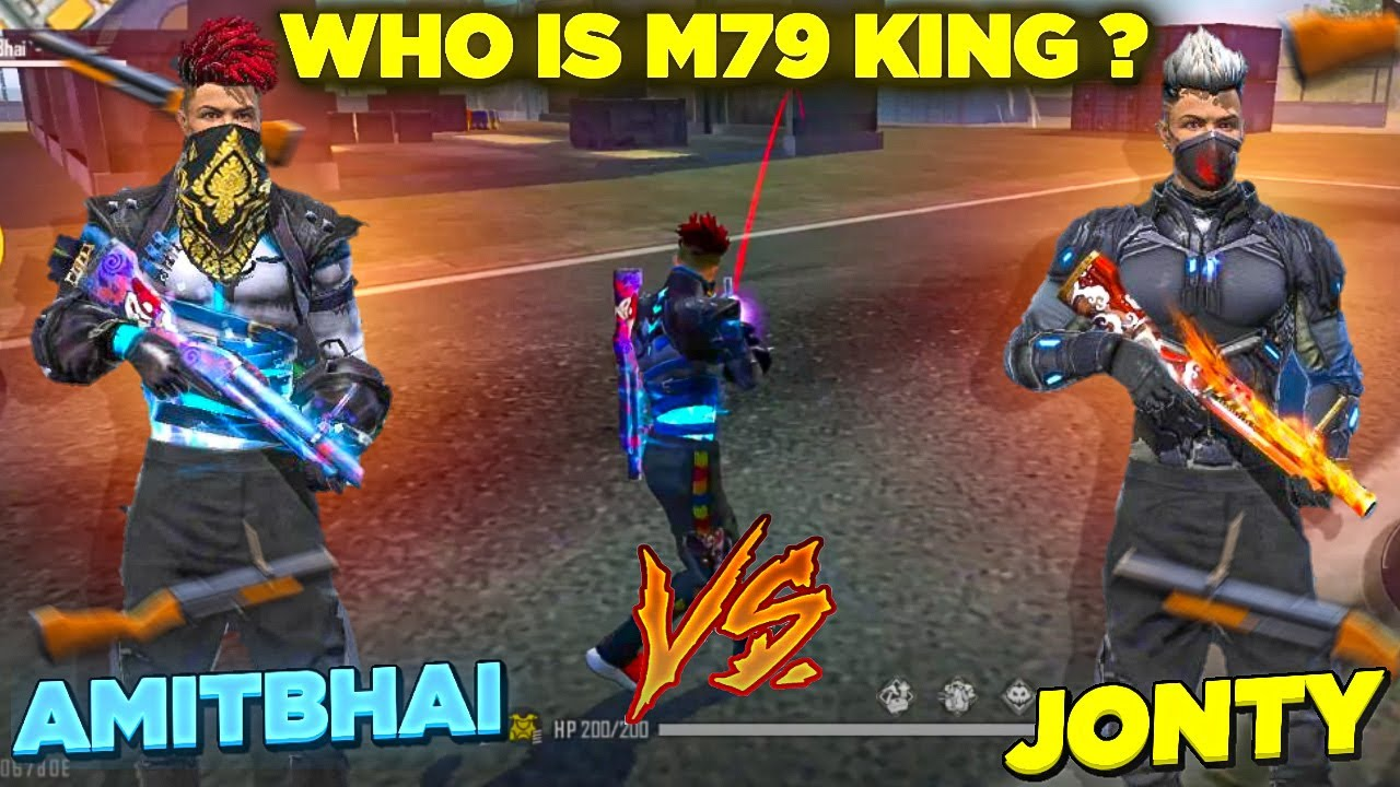 AmitBhai Vs Jonty Gaming || M79 Vs M79 Clash Squad || Desi Gamers