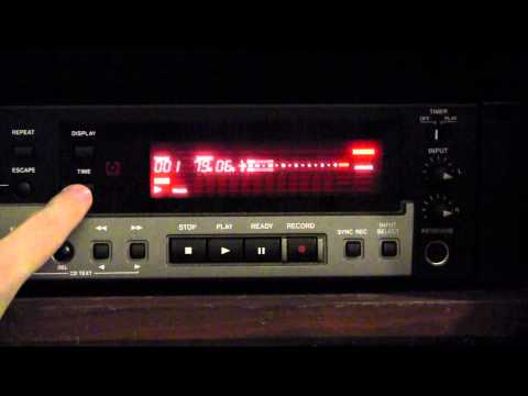 How to operate the Tascam CD-RW900SL CD recorder