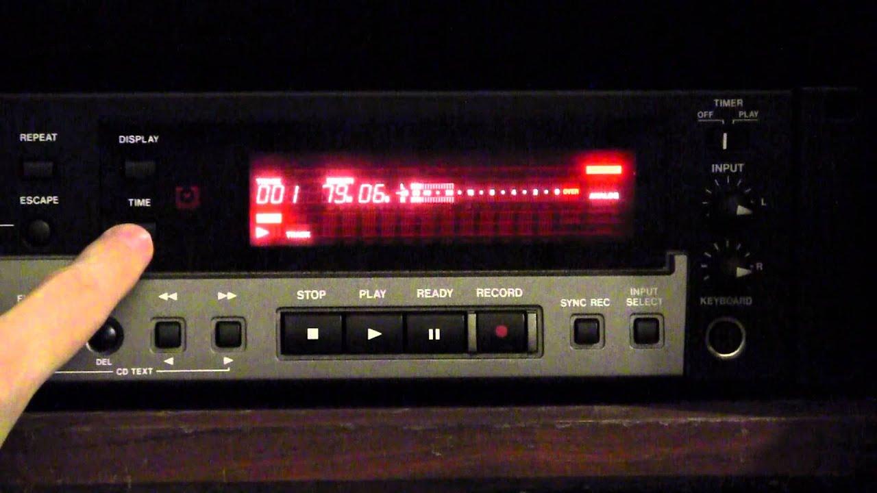 Operate Tascam Cd-rw900sl Cd Recorder