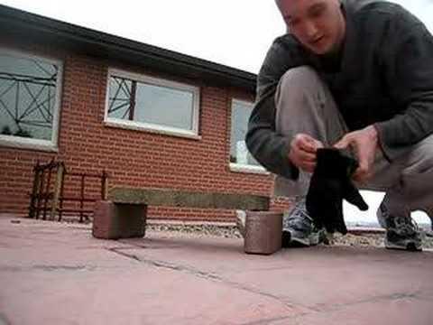 Brick Breaking With Sap Glove
