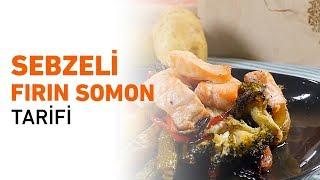 Sebzeli Fırın Somon Tarifi