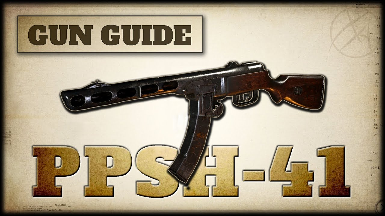 PPSh-41 machine: device and specifications 54