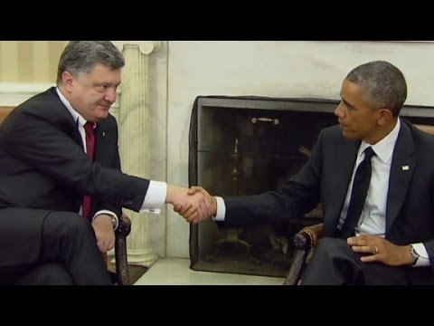 President Obama meets with Ukraine's President
