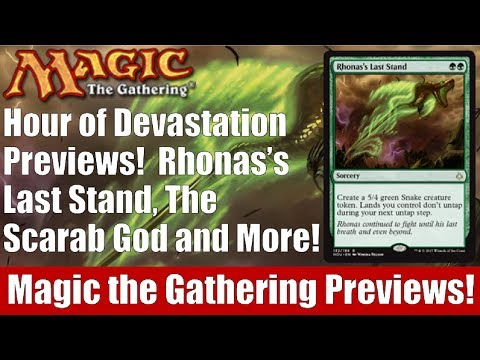 MTG Hour of Devastation: Rhonas's Last Stand, The Scarab God, and More!