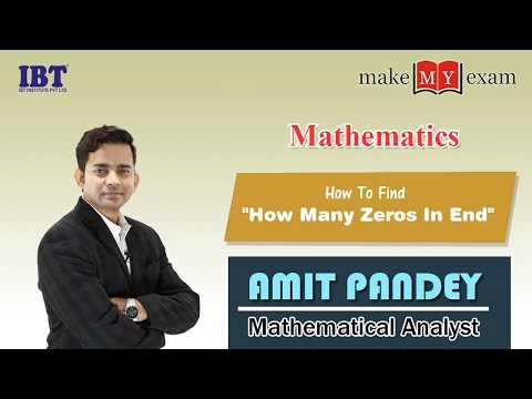 How To Find How Many Zeros In The End Number System