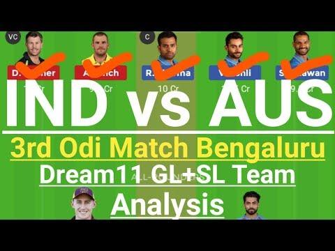 IND VS AUS 3rd Odi Match Dream11 Team,India vs Australia Odi Team 2020,Ind vs Aus Dream11 Team Today