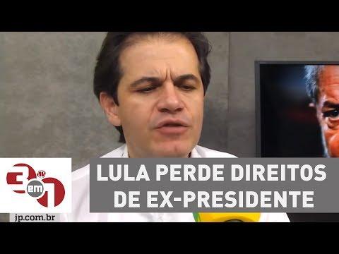 Lula perde direitos de ex-presidente