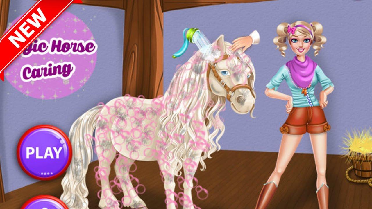 barbie horse dress up games